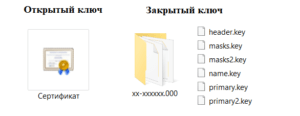 Копирование ключа эцп