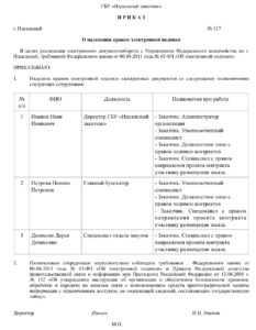 Образец приказа об использовании ЭЦП по 44-ФЗ в 2020 и 2021 году