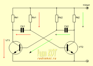 Мультивибратор в генераторах и электронных переключателях