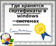 """Как открыть """"Хранилище сертификатов"""" в Windows 7"""